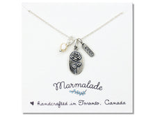 Load image into Gallery viewer, Marmalade Designs Rose & Love Charm Necklace