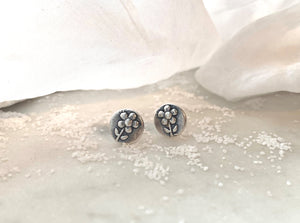 "Marmalade Designs Sterling Silver ""Flower"" Sculpted Studs"
