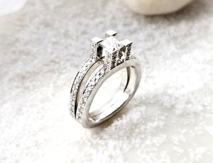 Contemporary Concept Tiana Diamond Engagement Ring