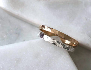 Strut Jewelry 14K Gold-Filled Wide Stacking Rings