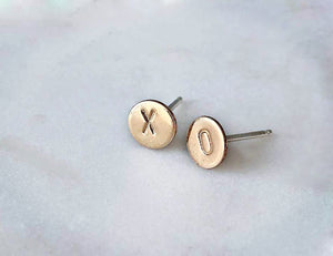 Strut Jewelry 14K Gold-Filled and Silver XO Studs