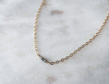 Load image into Gallery viewer, Strut Jewelry 14K Gold-Filled Baby Diamond Trio Necklace