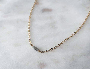 Strut Jewelry 14K Gold-Filled Baby Diamond Trio Necklace