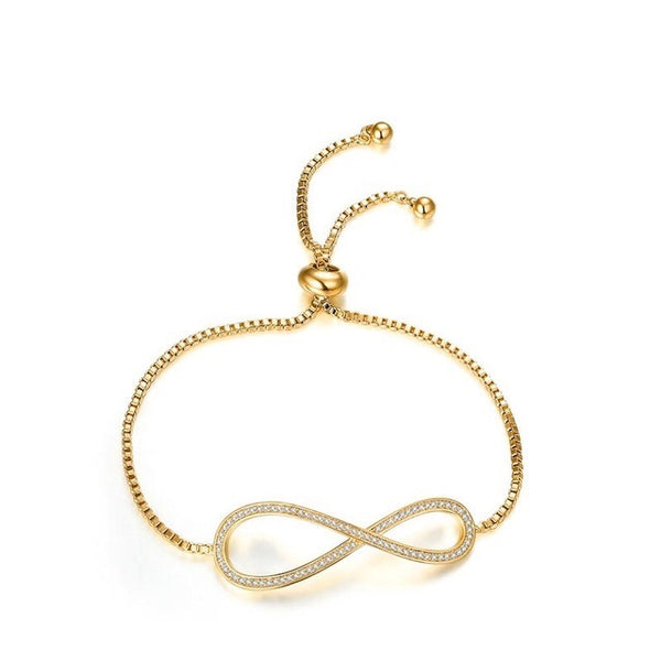 bracelet infinity york sterling jewellery silver symbol bangle gold