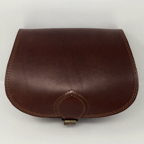 Mahogany small cross-body (handmade, leather) - FRONT