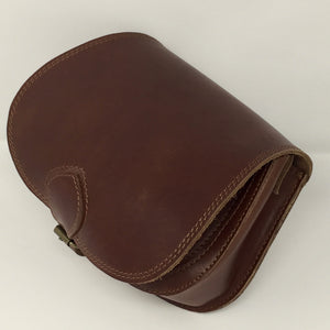 Mahogany small cross-body (handmade, leather) - PROFILE