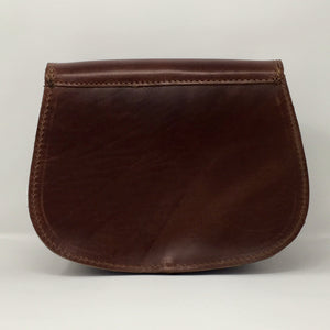Mahogany small cross-body (handmade, leather) - BACK