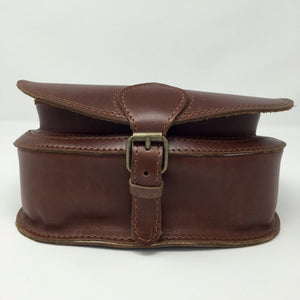 Mahogany small cross-body (handmade, leather) - BOTTOM