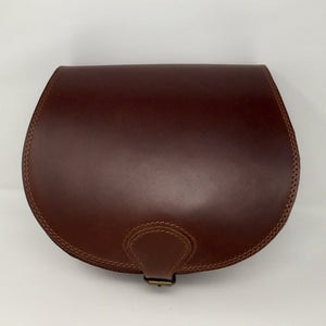Mahogany medium cross-body (handmade, leather) - FRONT