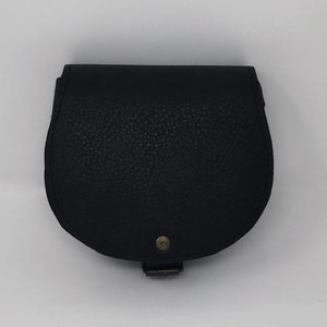 Mini cross-body in grainy black (handmade, leather)