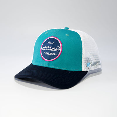 18Birdies Teal Street Hat
