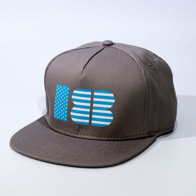 18Birdies Gray Stars and Stripes Hat