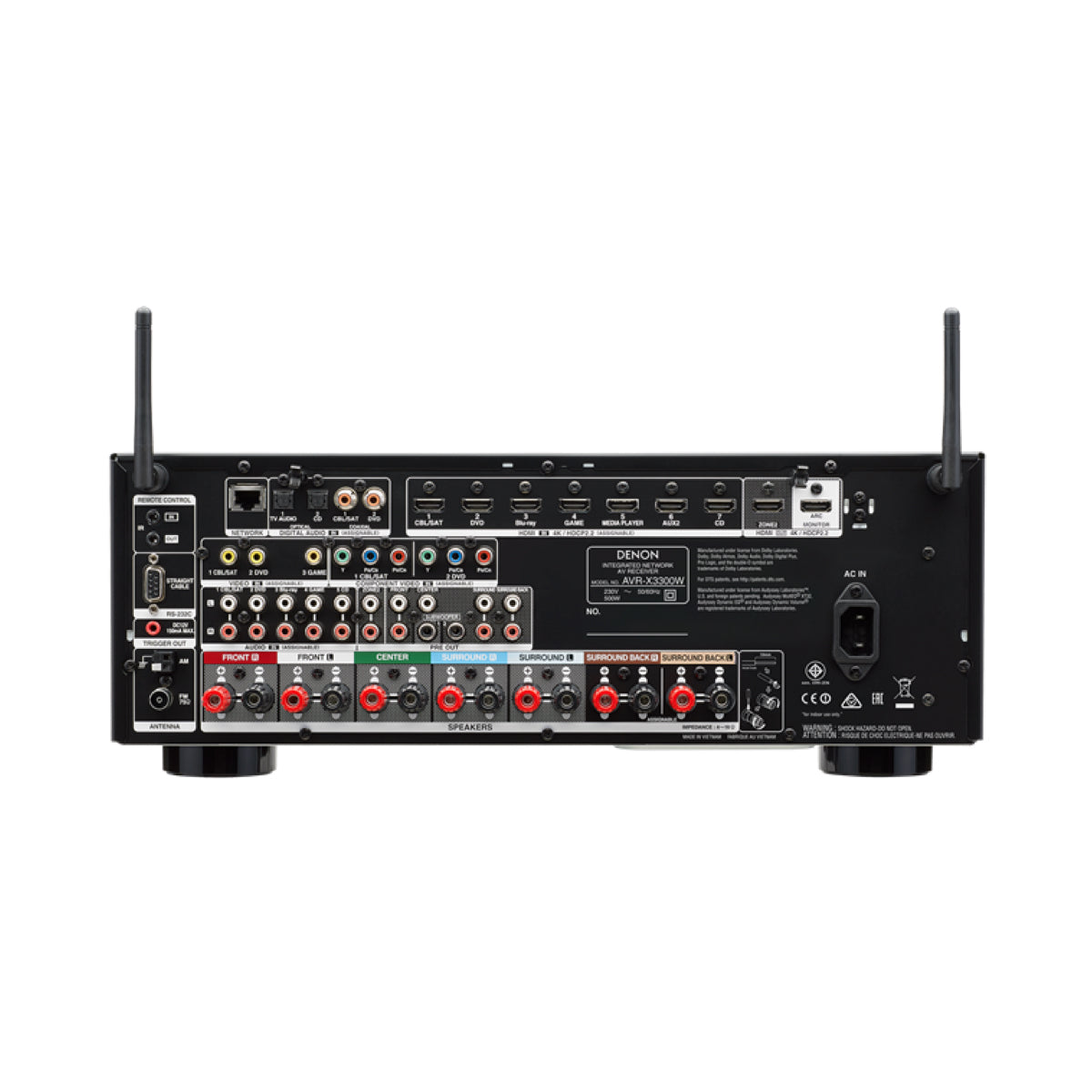 Denon AVR-X3400H (7.2 Channel AV Receiver) - AVStore.in