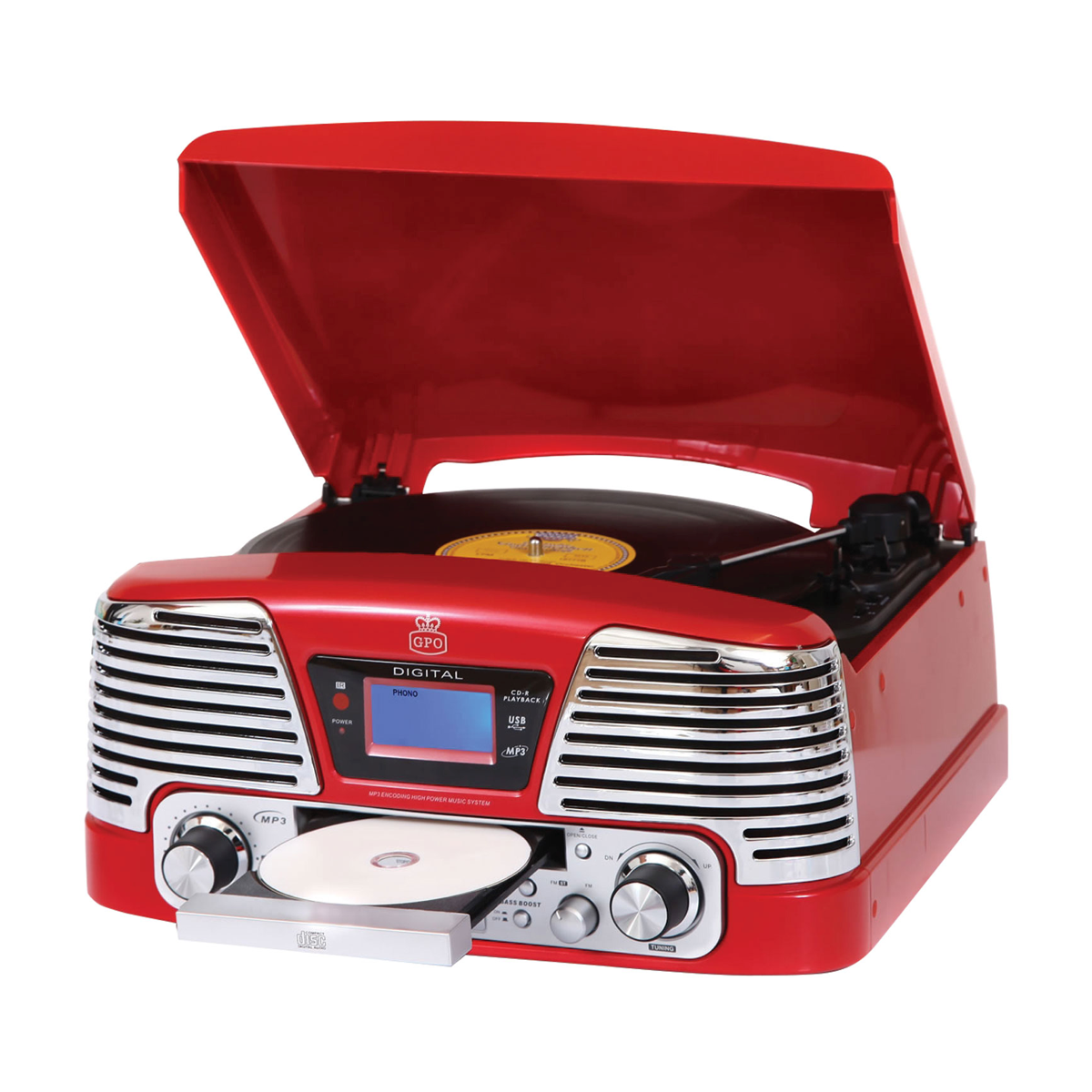 GPO Retro Memphis Turntable, AVStore.in, Turntable - AVStore.in