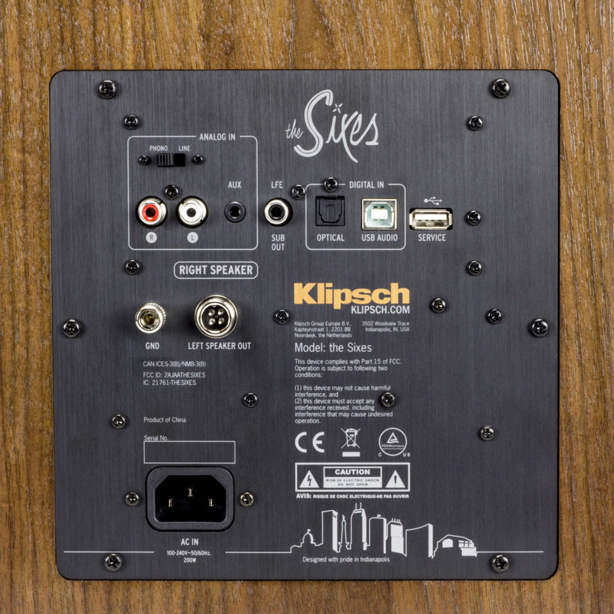 Klipsch The Sixes (Walnut) - Powered Speakers (Pair