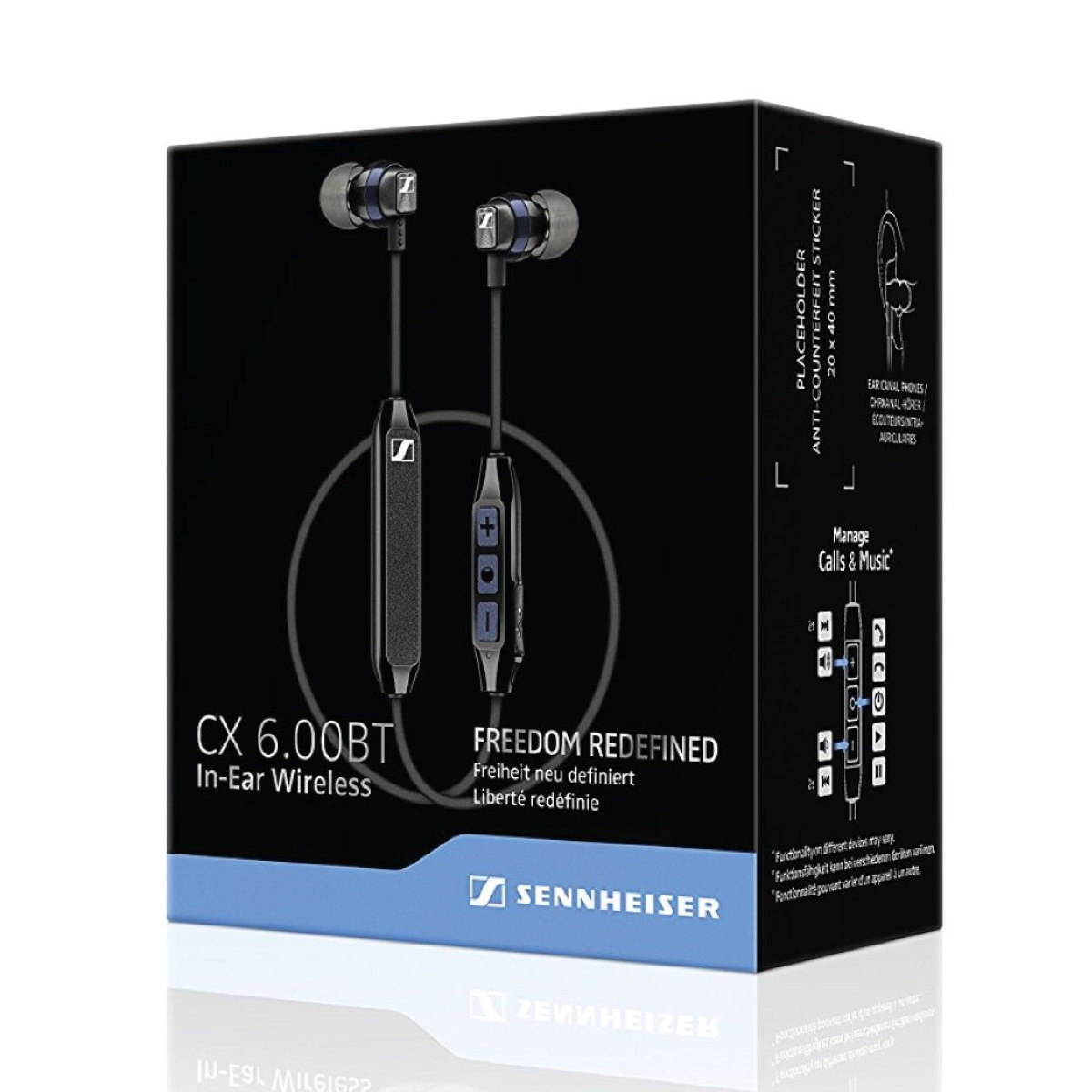 Sennheiser CX 6.00BT - Wireless Earphone, Sennheiser, Wireless Headphones - AVStore.in