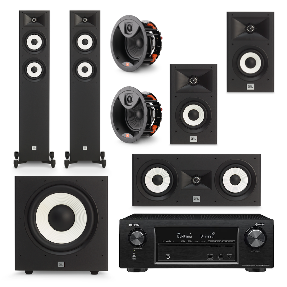 JBL Stage Action Pack 3 - 5.1.2 Channel, JBL, Home Theatre Package - AVStore.in