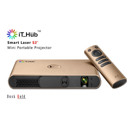 iT Hub Smart DLP Laser S2 Projector - Gold, IT Hub, Projector - AVStore.in