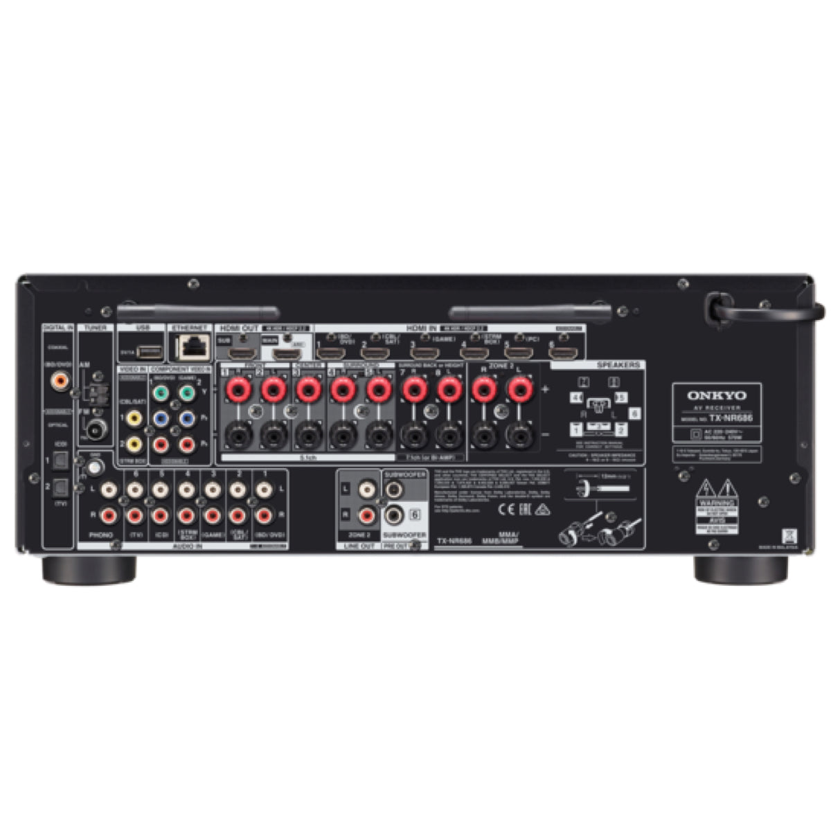 Onkyo TX-NR686 - 7.2 Channel Network AV Receiver - AVStore.in