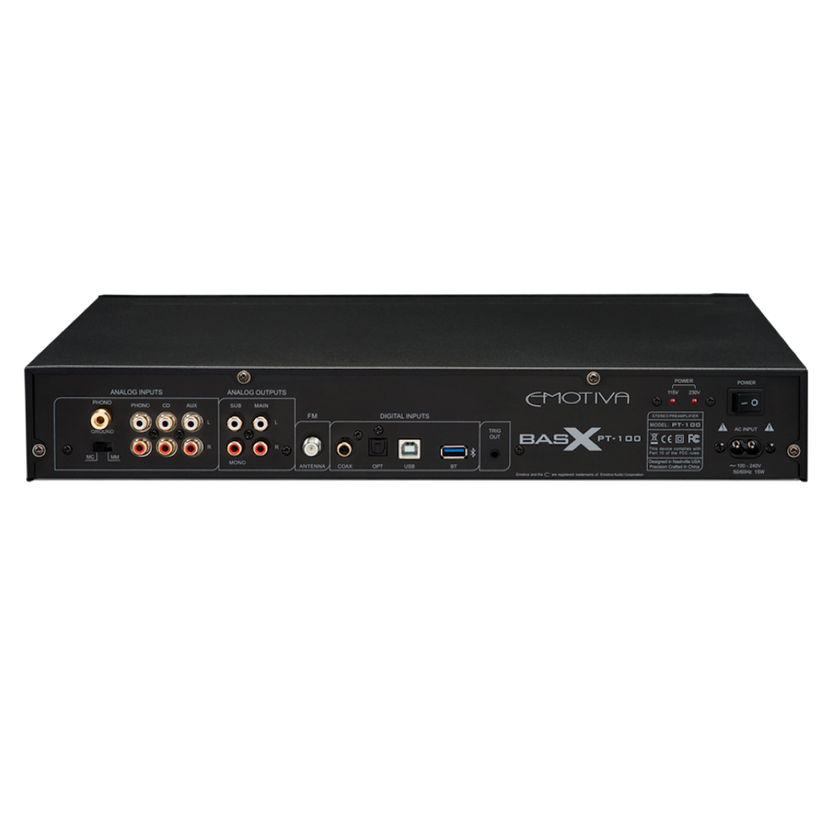 Emotiva PT-100 - Stereo Pre-Amplifier/DAC/Tuner, Emotiva, Integrated Amplifier - AVStore.in