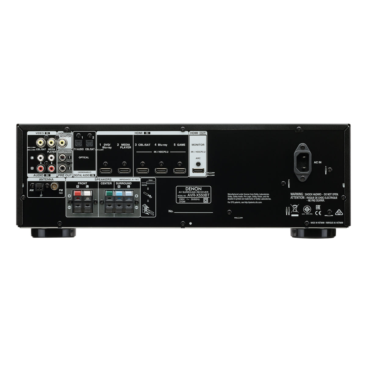Denon AVR-X550BT - 5.2 Channel AV Receiver - AVStore.in