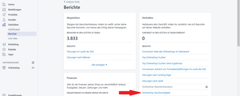 Pagespeed messen auf Shopify