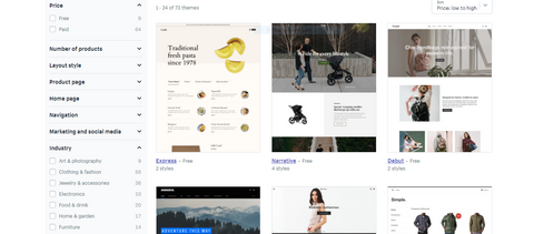 Shopify Themes Store