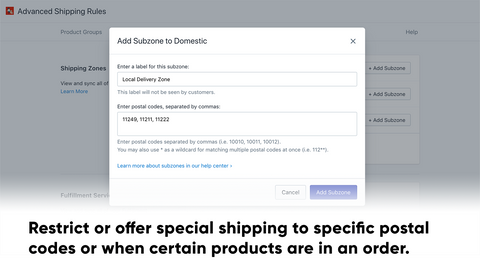 Advanced Shipping Rules Shopify App