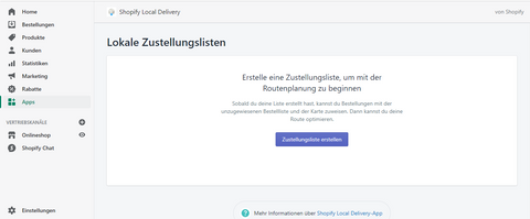 Shopify Local Delivery App