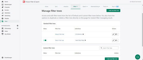 Product Filter & Search App Shopify Custom Filter Trees