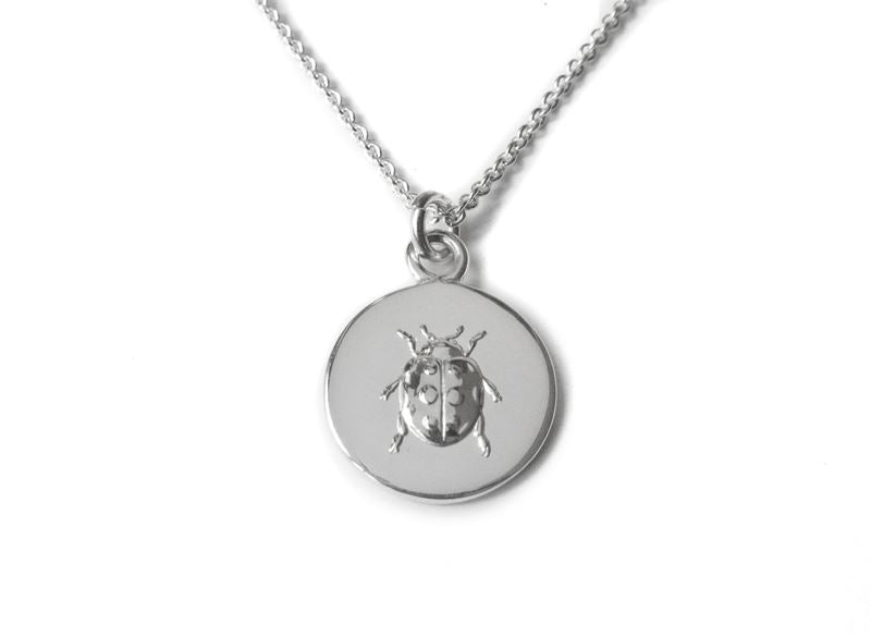 Sterling Silver - Lady Luck Ladybird Necklace - Tales From The Earth - Presented In Pale Blue Gift Box