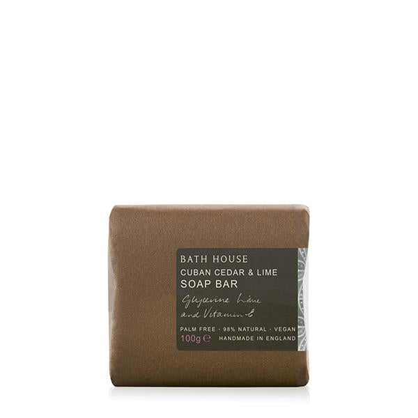Bath House - Cuban Cedar & Lime - Soap/Wash Bar 100g -  Latin, Warm & Sultry