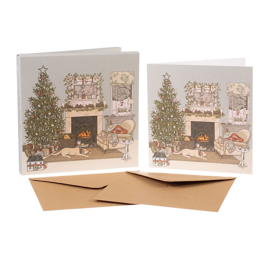Christmas Eve  - Christmas Card Box Set - 8 Luxury Cards & Envelopes - Sally Swannell