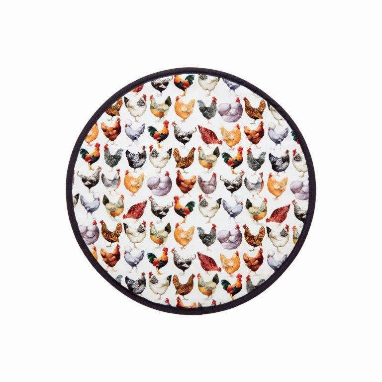 Emma Bridgewater - 100% Cotton - Hob Cover 37 x 37cms - Rise & Shine/Hen & Toast
