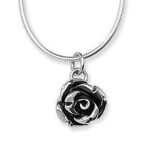 Silver Rose Garden Necklace by Linda Macdonald