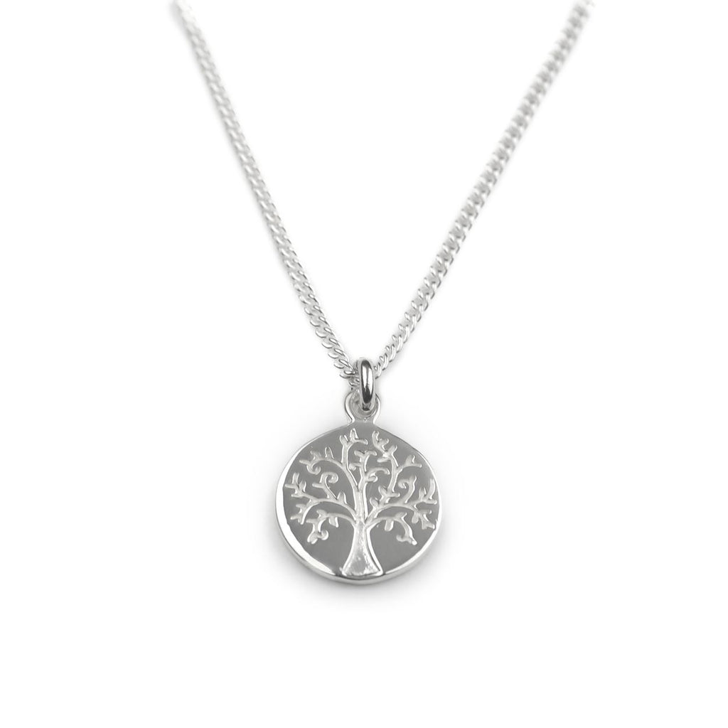 Sterling Silver - Tree Of Life Necklace - Tales From The Earth - Presented In Pale Blue Gift Box