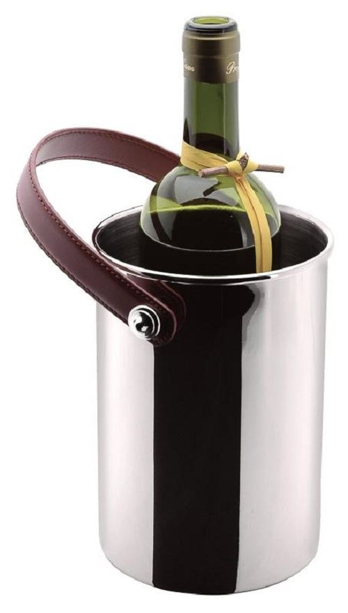 Roberts & Dore - Tuscan Wine Bottle Chiller With Leather Handle - Gift Boxed