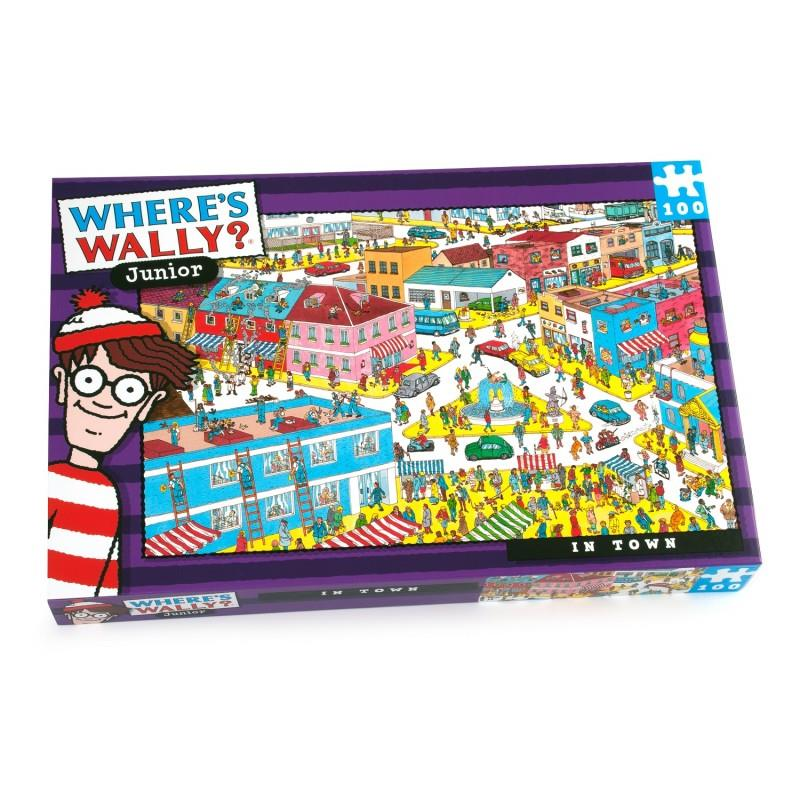 Where's Wally Junior - 100 Piece Jigsaw Puzzle - In Town