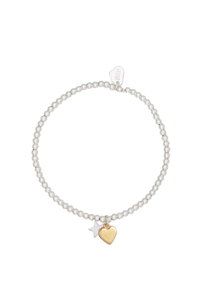 Sienna Heart & Star Bracelet - Gold & Silver Plated - Love - Estella Bartlett