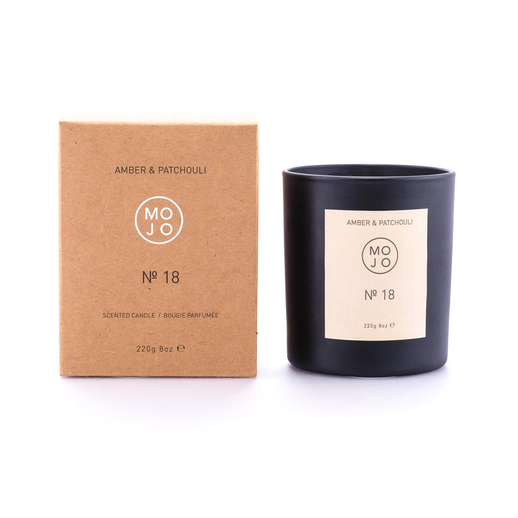 Mojo - Soya Wax Candle 220g/60hrs Burn Time - No 18 - Amber & Patchouli