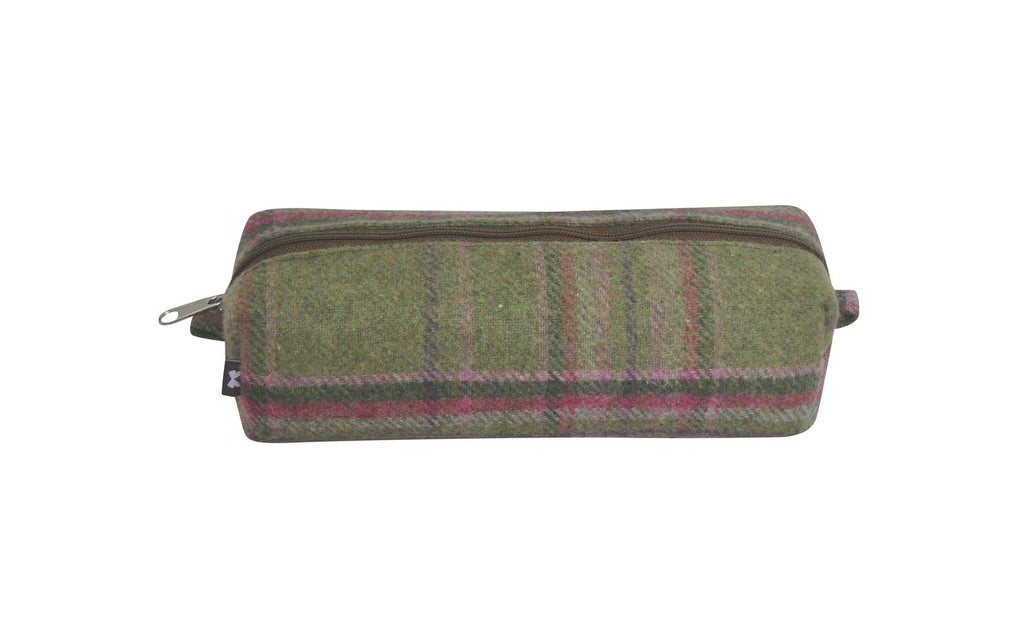 Earth Squared - Pencil/Make Up Brush Case - Tweed Wool - Moorland - 18x6x6cms