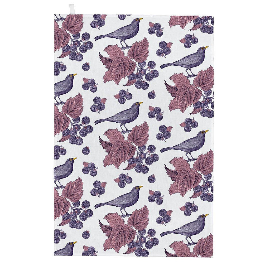 Thornback & Peel - 100% Cotton - Tea Towel - 47 x 77cms - Blackbird & Bramble