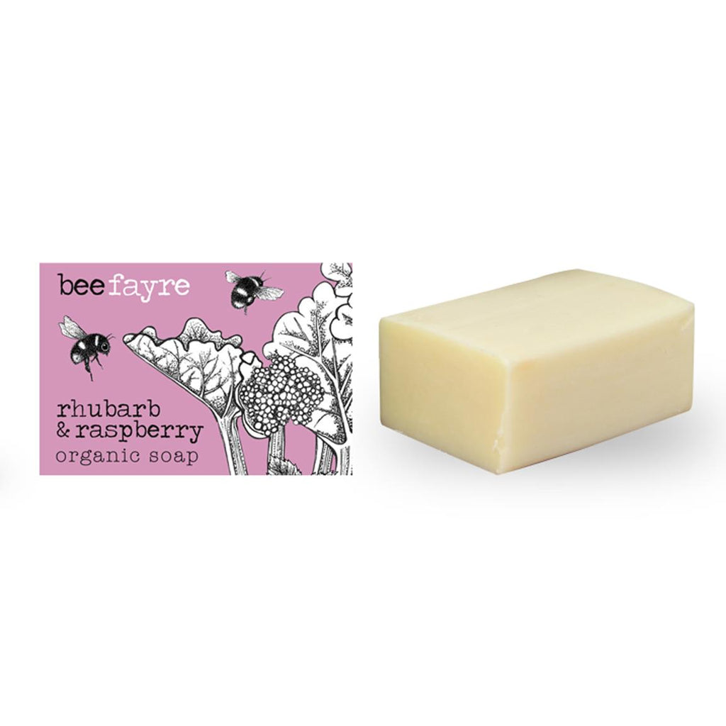 Beefayre - Bee Fruity - Rhubarb & Raspberry - Triple Milled Organic Soap - 100g