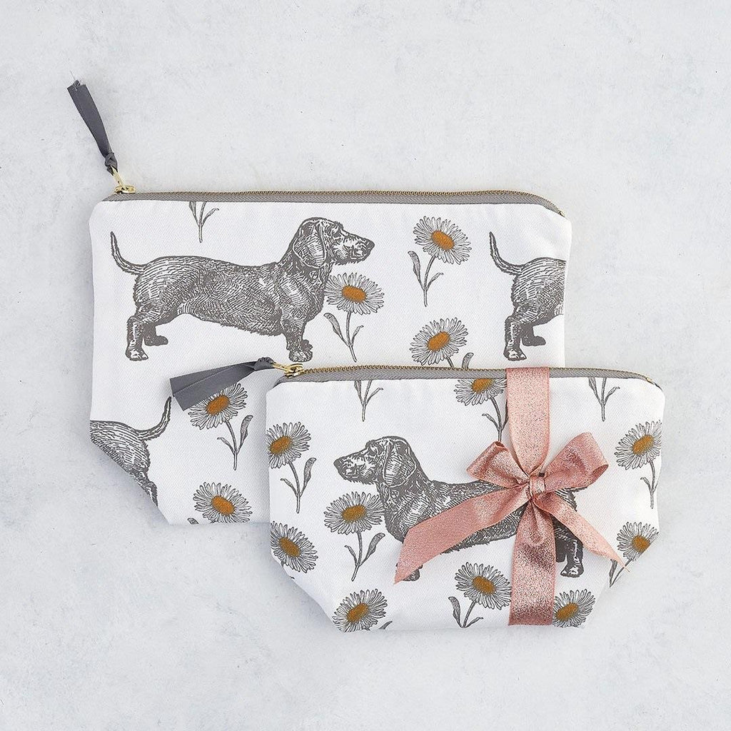 Thornback & Peel - Cosmetic/Make-Up Bag - Dog & Daisy - Available In 2 Sizes