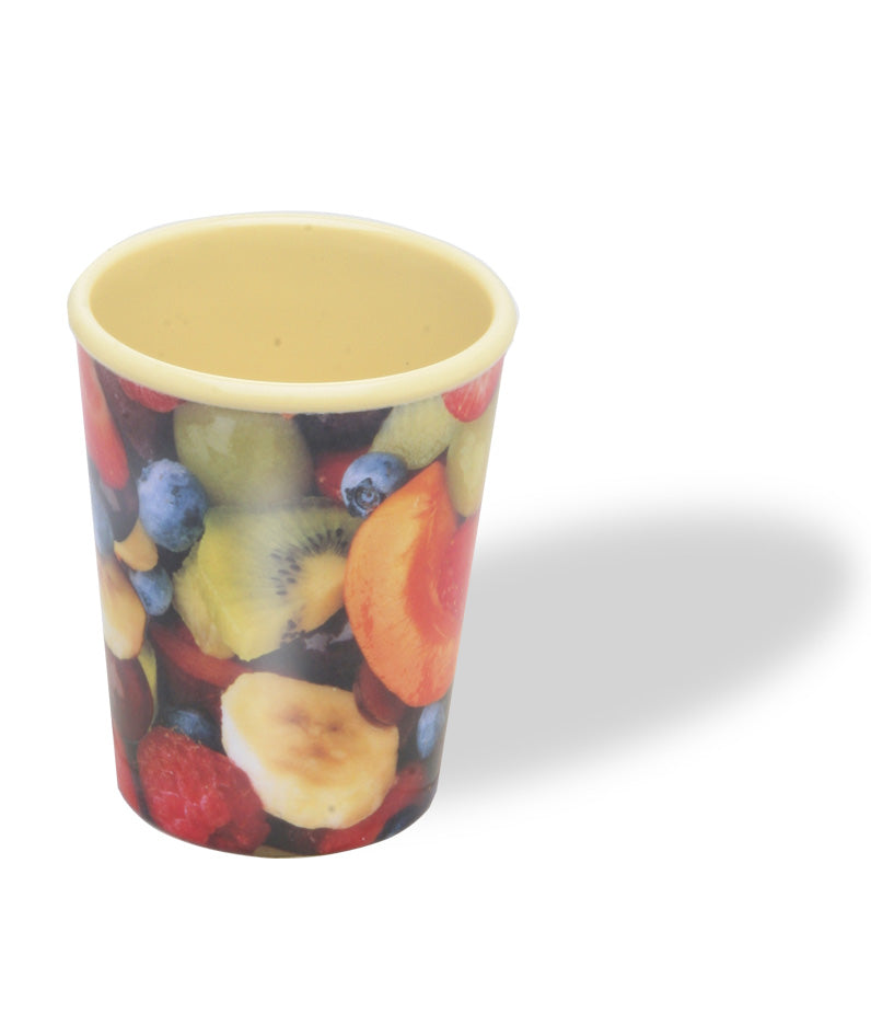 Splash - Fruit Salad Photo Print Melamine Medium Beaker - 4.5ins/11.5cms