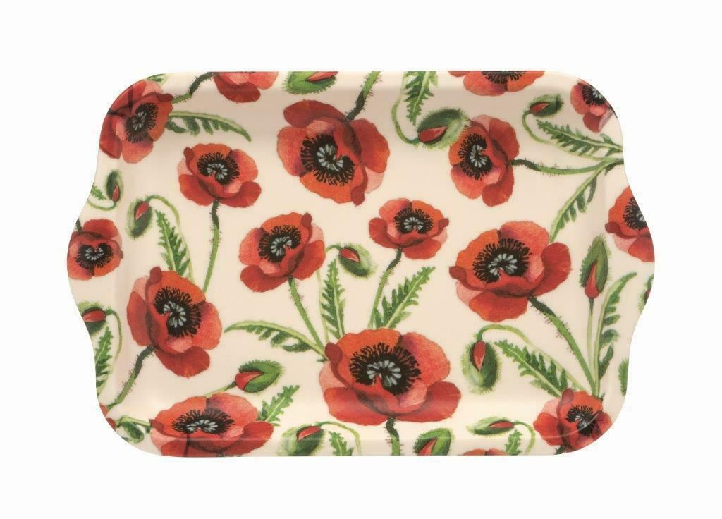 Emma Bridgewater - Small Melamine Rectangular Tray - 22 x 14.5cms - Poppy