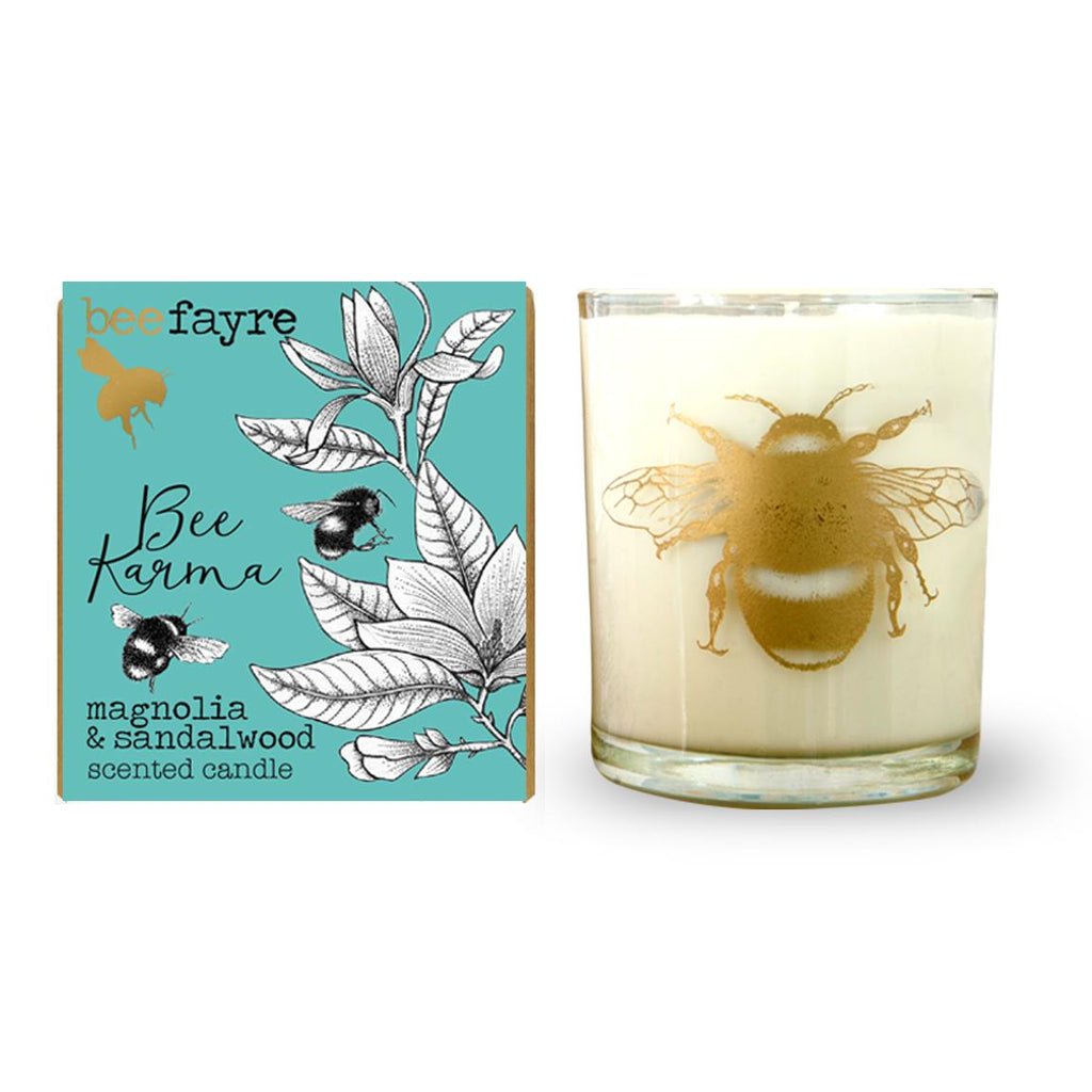 Beefayre - Bee Karma - Magnolia & Sandalwood - Large Scented Candle - 20cl/50hours
