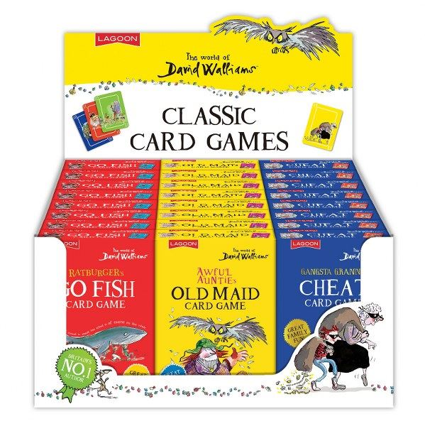 David Walliams - Classic Card Games - Cheat, Go Fish or Old Maid - Sold Individually or Set of 3