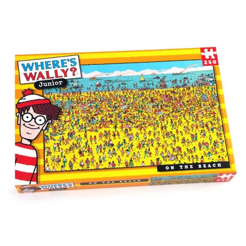 Where's Wally Junior - 250 Piece Jigsaw Puzzle - On The Beach