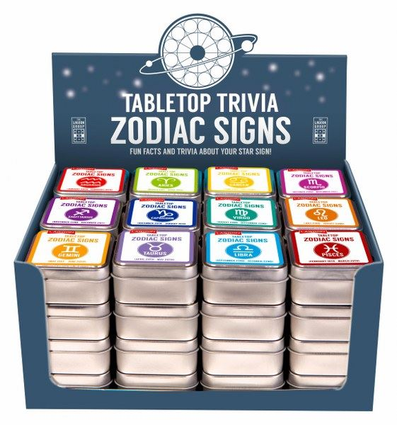 Lagoon -Table Top Trivia - Zodiac Signs - Fun Facts & Trivia About Your Star Sign - Sold Inidvidually